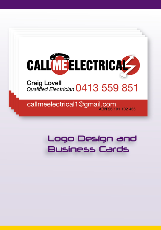 Graphic design adelaide website design business cards printing call me electrical logo design business cards colourmoves